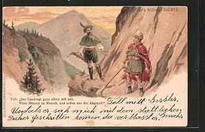 Lithographie Schiller's Wilhelm Tell No. 6, Der