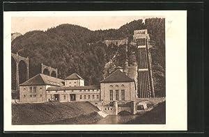 Ansichtskarte Kochel, Walchenseewerk, Gesamtansicht des Kraftwerks von