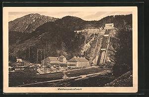 Ansichtskarte Kochel, Walchenseewerk, Gesamtansicht des Kraftwerks