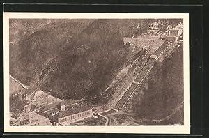 Ansichtskarte Kochel, Walchenseewerk, Gesamtansicht des Kraftwerks aus