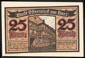 Notgeld Osterwieck, 1921, 25 Pfennig, Alte Holzbauten,