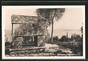 """Cartolina Lago di Garda, """"il Vittoriale"""", Tomba"""