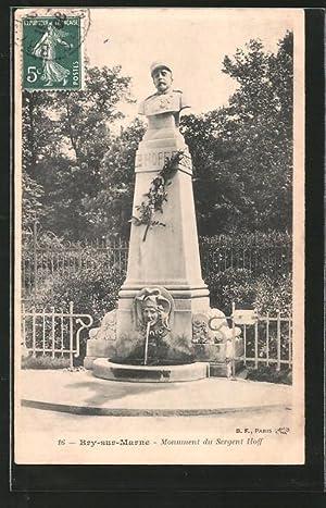 Carte postale Bry-sur-Marne, monument au Sergent Hoff