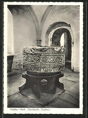 Ansichtskarte Metelen, Pfarrkirche, Taufstein
