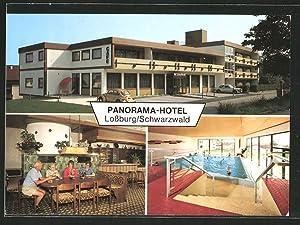 Ansichtskarte Lossburg, Panorama-Hotel mit Gastraum und Hallenbad