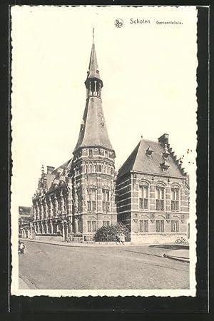 Ansichtskarte Schoten, Gemeentehuis