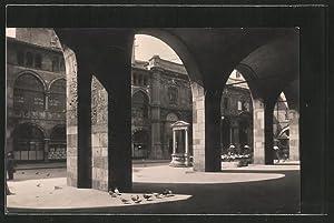 Cartolina Milano, Piazza Mercanti