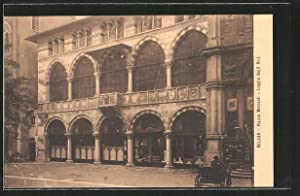 Cartolina Milano, Piazza Mercanti, Loggia degli Osii