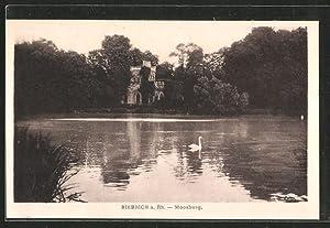 Ansichtskarte Biebrich, Moosburg vom See gesehen