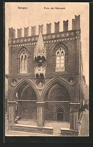 Cartolina Bologna, Foro dei Mercanti