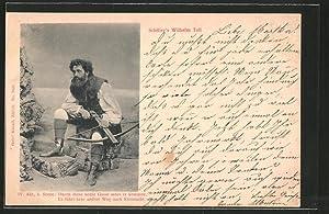 Ansichtskarte Schiller's Wilhelm Tell, Durch diese hohle