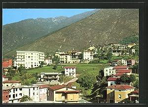 Cartolina Lumezzane Fontana, Ortsansicht mit Bergpanorama