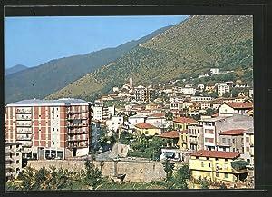 Cartolina Lumezzane, Teilansicht mit Neubauten und Bergpanorama
