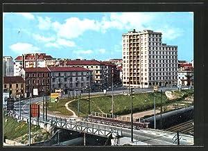 Cartolina Sesto S. Giovanni, Palazzo I.N.A.M., Brückenpartie