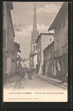 Carte postale Ste-Foy-la-Grande, Clocher de l'eglise Notre-Dame