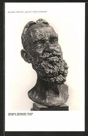 Künstler-Ansichtskarte Jacob Epstein: Büste von George Bernard