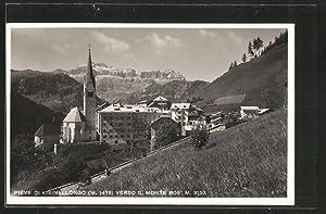 Cartolina Pieve di Livinallongo, Verso il Monte
