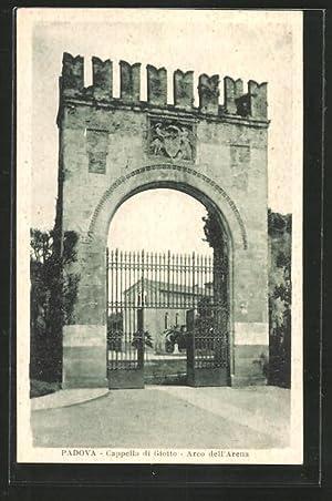 Cartolina Padova, Cappella di Giotto, Arco dell'Arena