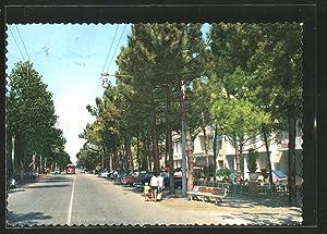 Cartolina Milano Marittima, Viale G. Matteotti, G.