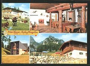 """Ansichtskarte Bergen, Gasthaus """"Öder-Kaser"""" auf der Bründlingalm,"""