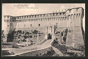Cartolina Gradara, Prospetto della Rocca Malatestiana