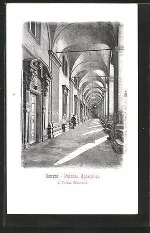 Cartolina Loreto, Palazzo Apostolico, Il Portico