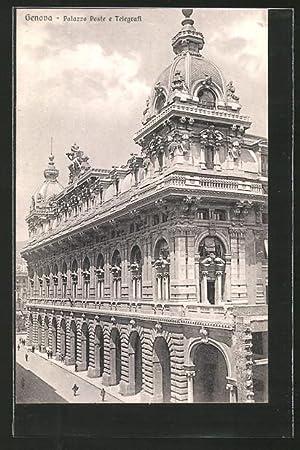 Cartolina Genova, Palazzo Poste e Telegrafi