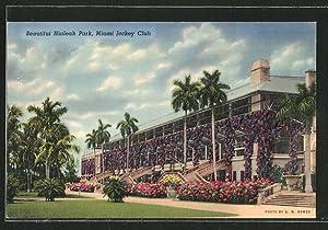 Postcard Miami, FL, Beautiful Hialeah Park, Miami