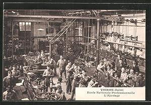 Carte postale Voiron, Ecole Nationale Professionnelle, l'Ajustage
