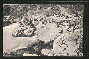 Ansichtskarte Gorges de l'Areuse, Blocs éboulés dans