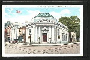 Postcard Gloversville, NY, Main and Fulton Streets