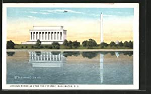 Postcard Washington D.C., Lincoln Memorial from the