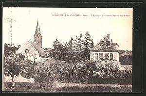 Carte postale Corneville-les-Cloches, l'église et l'ancienne maison