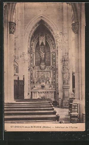 Carte postale St-Didier-sous-Riverie, Intérieur de l'Eglise