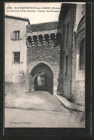 Carte postale St-Symphorien-sur-Coise, Ancienne Ville murée, Porte