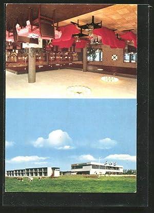 Ansichtskarte Sassenheim, Motel Sassenheim, Aussen- u. Innenansicht