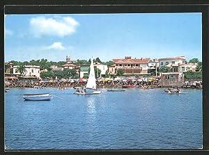 Cartolina S. Marinella, Scorcio panoramico, Segelboot