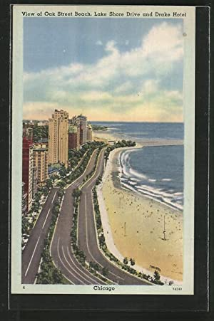 Postcard Chicago, IL, View of Oak Street