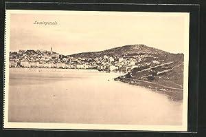 Ansichtskarte Lussinpiccolo, Ortsansicht mit Hafen