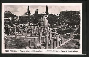 Ansichtskarte Athènes, L'ancienne Agora et Temple d'Eolou
