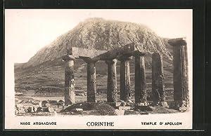 Ansichtskarte Corinthe, Temple d'Apollon, Berge
