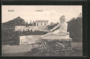 Ansichtskarte Korfu, Römerstatue im Garten des Achilleion