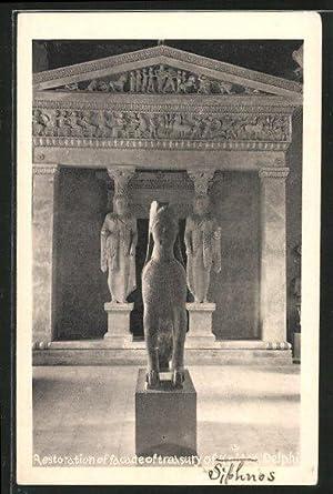 Ansichtskarte Delphi, Restauration of facade of tresury