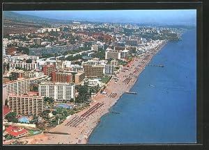 Postal Torremolinos, Playa de Montemar y vista