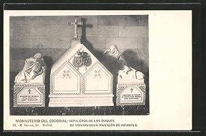 Postal Escorial, Monasterio, Sepulcros de los Duques