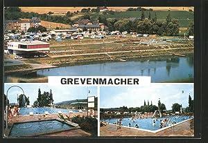 Ansichtskarte Grevenmacher, Schwimmbad und Campingplatz