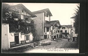 Carte postale Cambo les Bains, Maison basque.