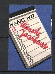 Reklamemarke Wien, Weensche Jaarbeurs 1927, Kalender mit