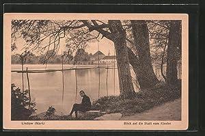 Ansichtskarte Lindow, Blick auf die Stadt vom