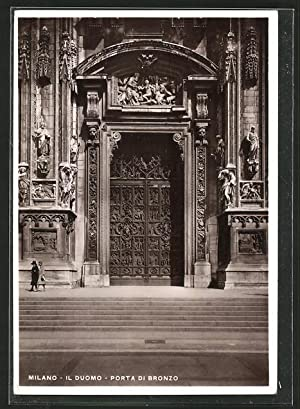 Ansichtskarte Milano, Il Duomo, Porta di Bronzo